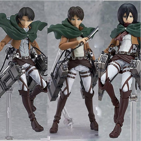 COLLECTIBLE Attack on Titan Levi x Eren x Mikasa Figurines - MH
