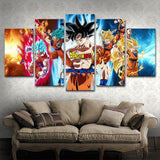 5 Piece Dragon Ball Z Goku Transformations Poster High Quality - MH