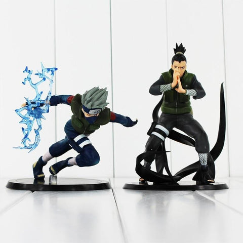 2 Styles Collectible Hatake Kakashi Nara Shikamaru Action Figurines 12-15cm - MH