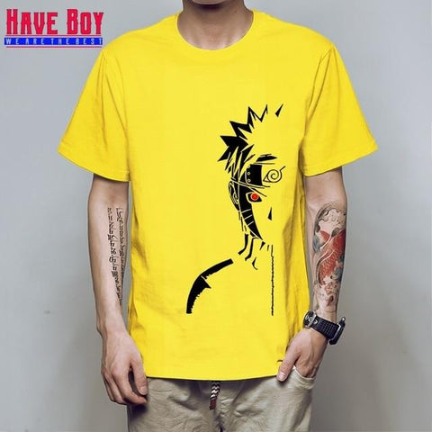 Naruto Uzumaki Shippuden Yellow Cotton Tee