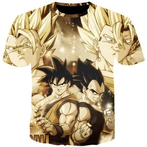 Dragon Ball Z Vegitto x Gogeta Tee
