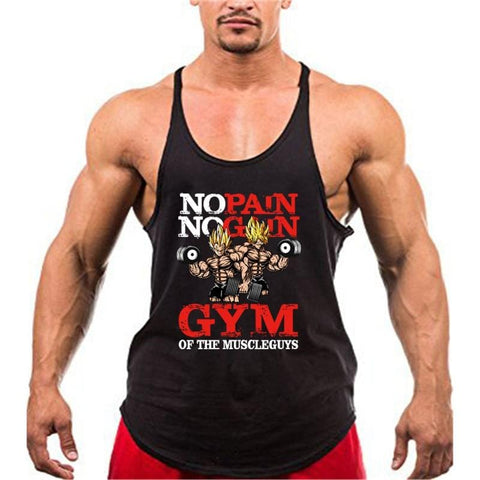 Dragon Ball Z x Muscle Guys Super Saiyan Training Tank Top - MH