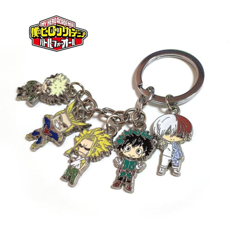 5pcs/set My Hero Academia Key Chain - MH