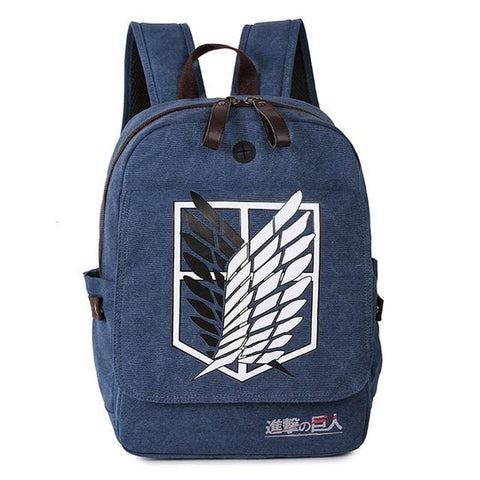 Attack on Titan x Shingeki no Kyojin Scouts Blue Backpack - MH
