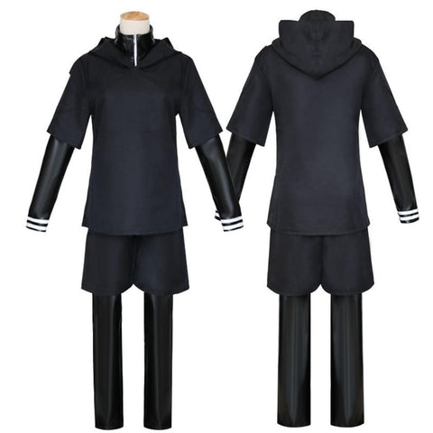 Japanese Anime Tokyo Ghoul Cosplay Costumes Kaneki Ken Cosplay Costumes Hoodie Jackets Black Fight Uniform Full Set With Mask - MH