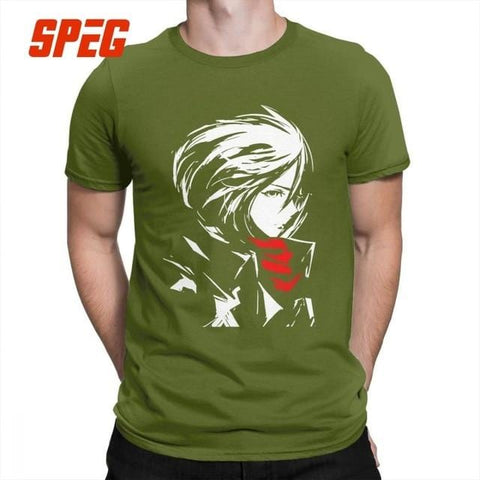 Attack On Titan x Green Mikasa Crewneck Tee - MH