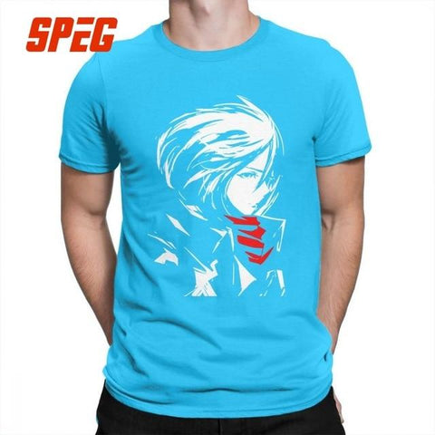 Attack On Titan x Blue Mikasa Ackerman Crewneck Tee - MH