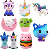 PU Unicorn bear Animals Squishy jumbo cute Slow Rising Kawaii Squish Toy for Kids anti Stress Reliever Decompression Squeeze toy - MH
