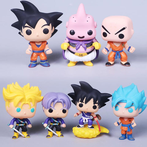 Dragon Ball Super Goku x Krillin x Majin Boo x Future Trunks Figurines - MH
