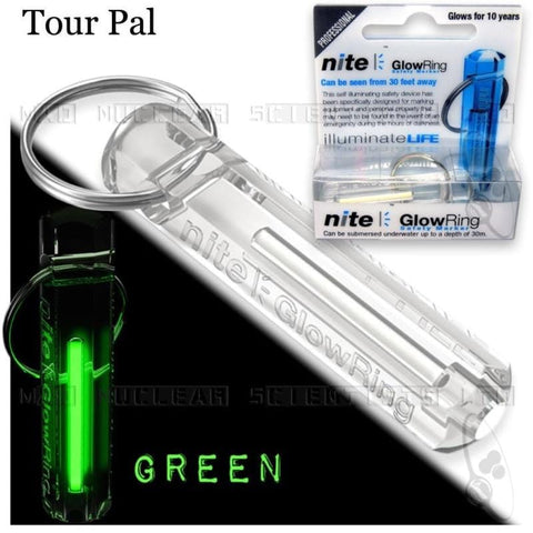 Nite Tritium Glowring Keychain Key Fob Night Automatic Light Self Luminous Fluorescent Tub Tritium - MH
