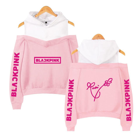 LIMITED EDITION BlackPink Rose Crop Top Hoodie - MH