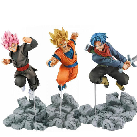 Dragon Ball Super Future Trunk Arc Goku Black x Goku x Trunks Figurines - MH