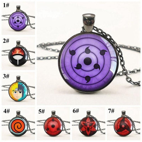 Naruto Pendant Glass Dome Necklace - MH