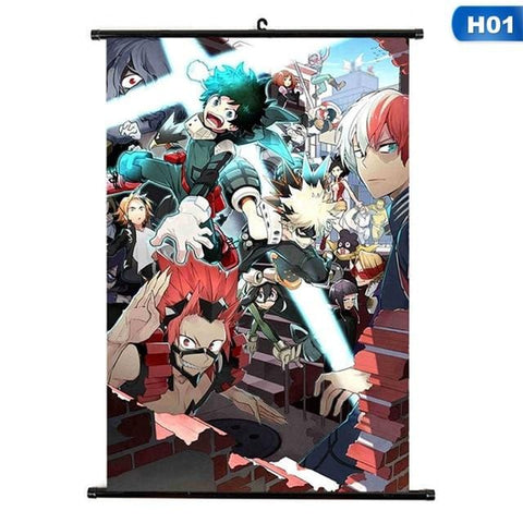 My Hero Academia Multiple Japanese Scroll Painting Posters - MH