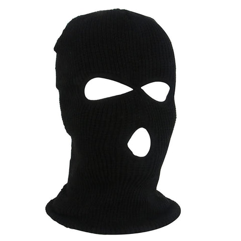 Army Tactical Winter Warm Ski Cycling 3 Hole Balaclava Hood Cap Full Face Mask Outdoor Hiking Warm Face Mask - MH