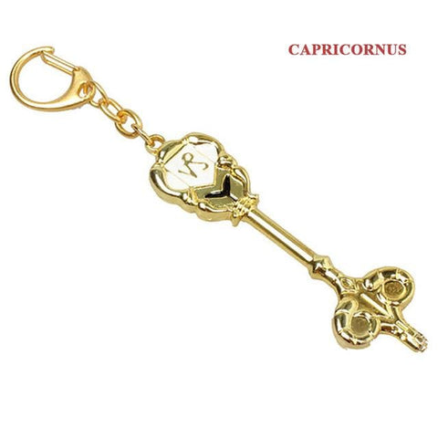 2019 Fashion Fairy Tail Key Chains ZODIAC Star Spirit Magician Lucy summons Key Ring Twelve Constellation KEYCHAIN Cosplay Gift - MH