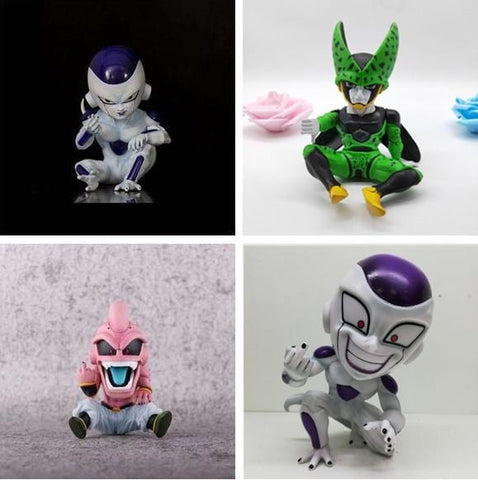 13cm Dragon Ball Z Frieza x Majin Boo x Perfect Cell Figurines - MH
