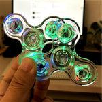 Luminous LED light Fidget Spinner Hand Top Spinners Glow in Dark Light EDC Figet Spiner Batman Finger Stress Relief Toys - MH