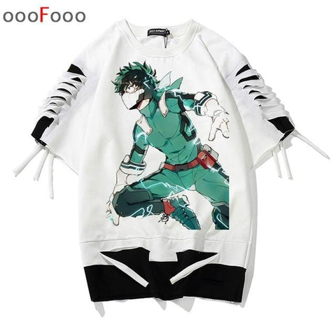My Hero Academia x Deku One for All Tattered Tee - MH