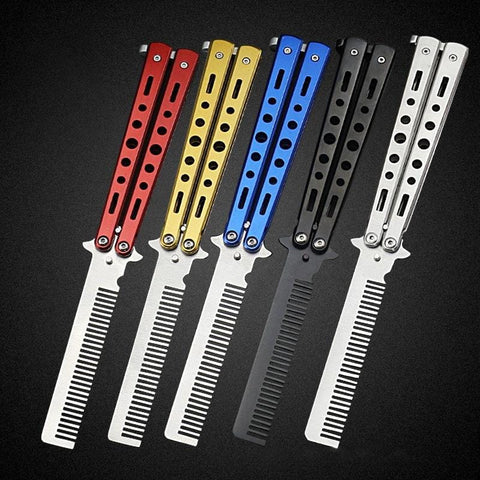 Stainless Steel Butterfly Knife Comb - MH