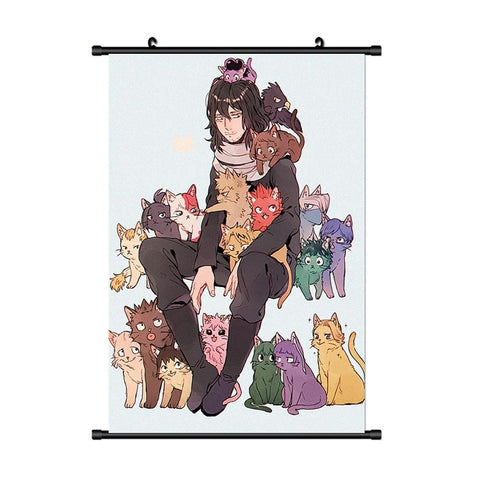 My Hero Academia Eraser Head x Cat Lady Poster - MH