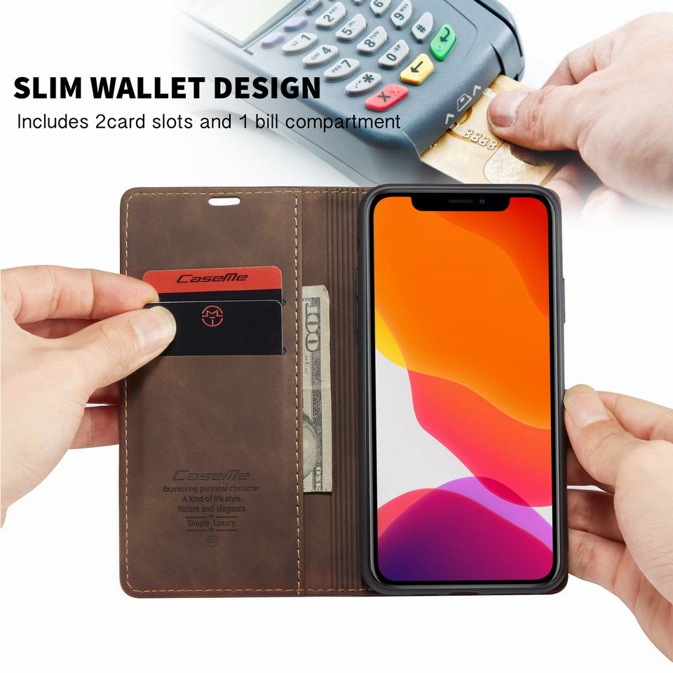 iPhone 11 Leather Wallet Case