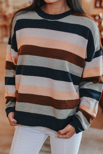 Just My Type Sweater, Striped
