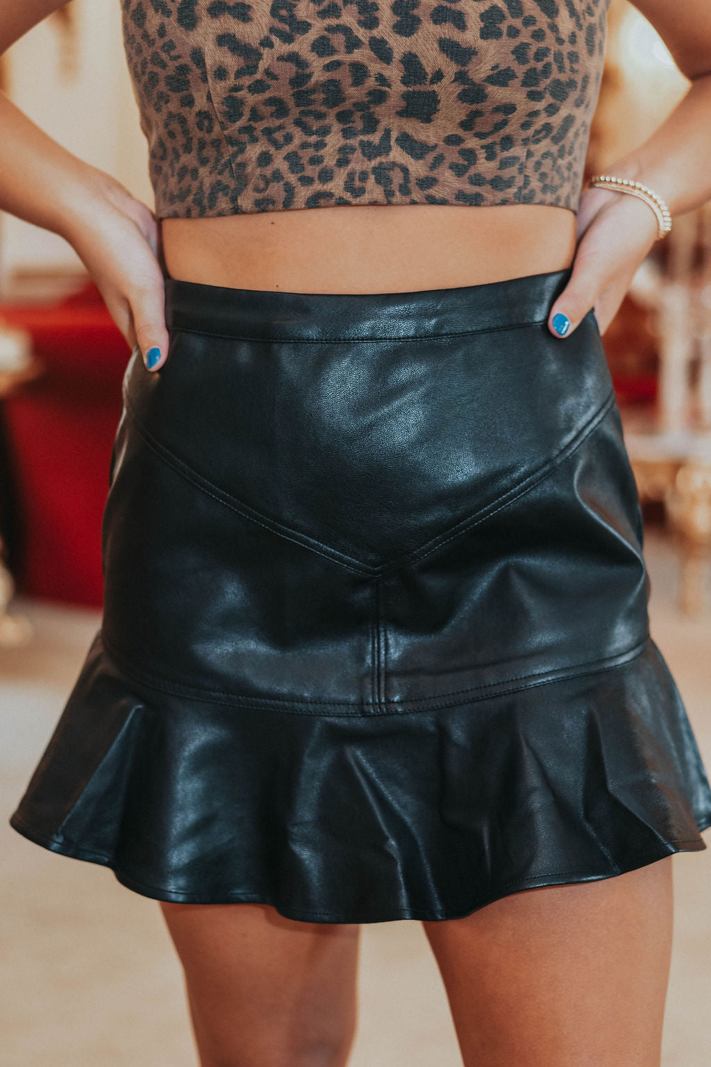 Get It Together Skirt, Leather
