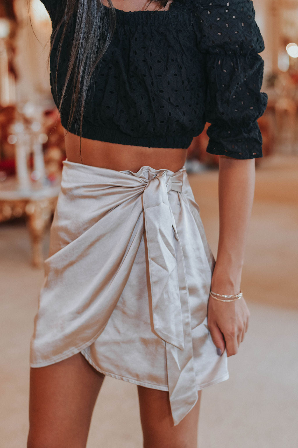 Sleek and Chic Skirt, Champagne