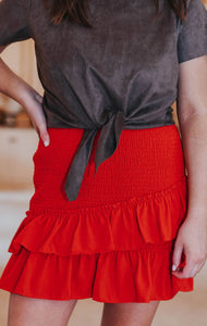Red and Rebellious Skirt, Red