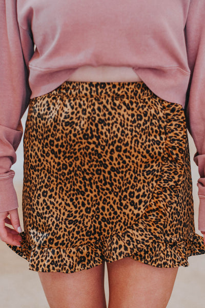 Hear Me Roar Skirt, Leopard
