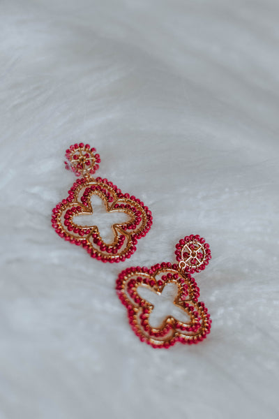 The Pink Clover Earrings