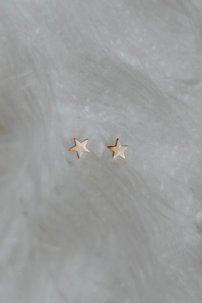 The Simple Star Studs, Gold