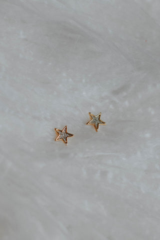 The Simple Star Studs, Silver**
