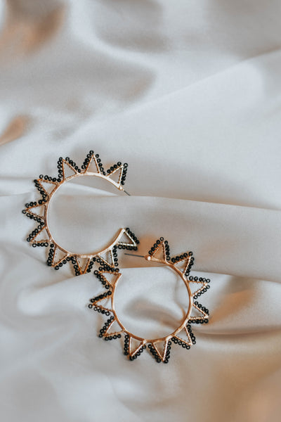 The Black Tribal Earrings