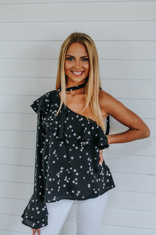 Starry Night Top, Black