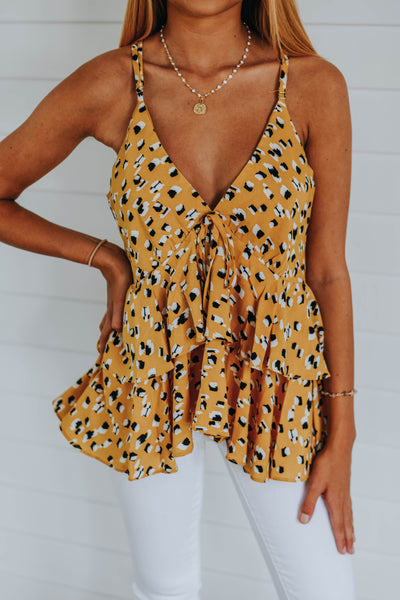 The Megan Top, Yellow
