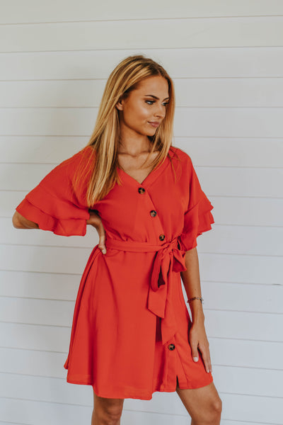 The Reagan Dress, Red