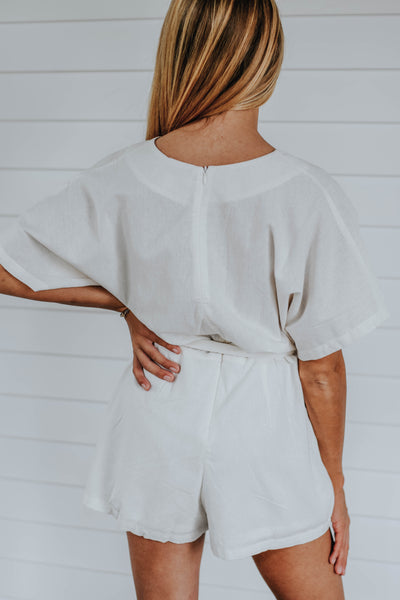 The Sunday Romper, White
