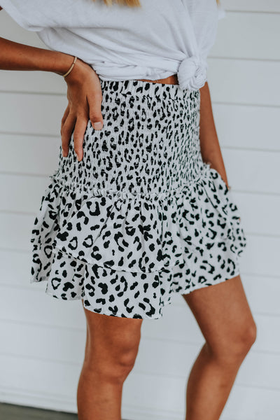 The Cheetah Girl Skirt, White