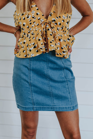 The Saturday Skirt, Blue
