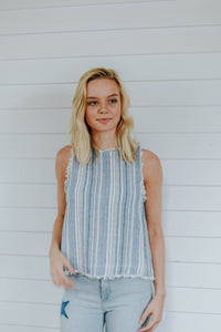 The Blue and Boho Top, Blue