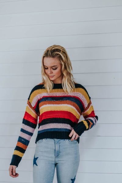 The Ashley Sweater, Striped