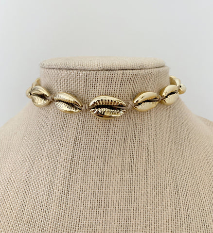 ALV Gold Shell Choker