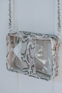 Snakeskin Gameday Purse, Light
