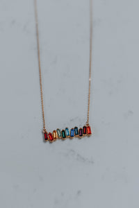 Rainbow Block Necklace (with earrings)