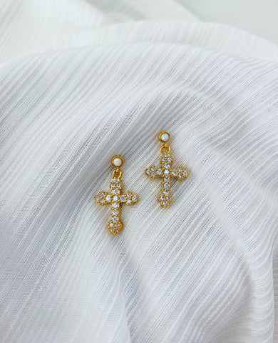 ALV Opal Cross Studs
