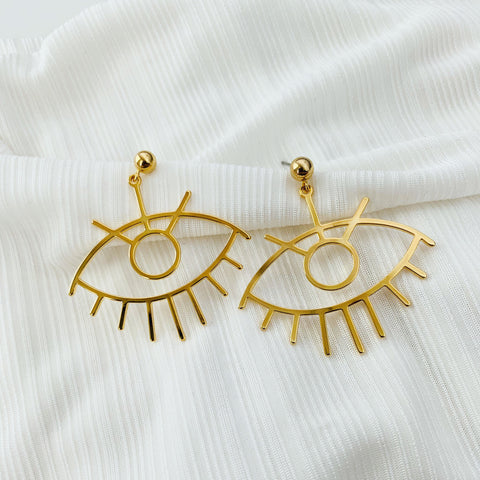 ALV Wide Eye Earrings
