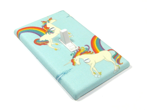 Blue Unicorn Decor Light Switch Cover Plate
