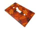 Fall leaves and acorns light switch cover plate